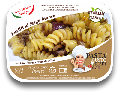 Ready Meals Fusilli with White Meat Sauce
