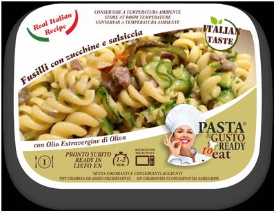 Piatti Pronti Fusilli Zucchine e Salsiccia