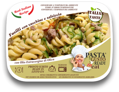 ready meals fusilli zucchini and sausages