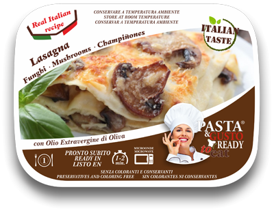 Mushroom Lasagna Ready Meals Pasta & Gusto Ready to Eat