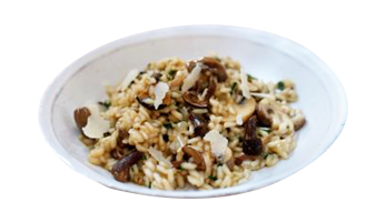pasta ready to eat risotto with mushrooms